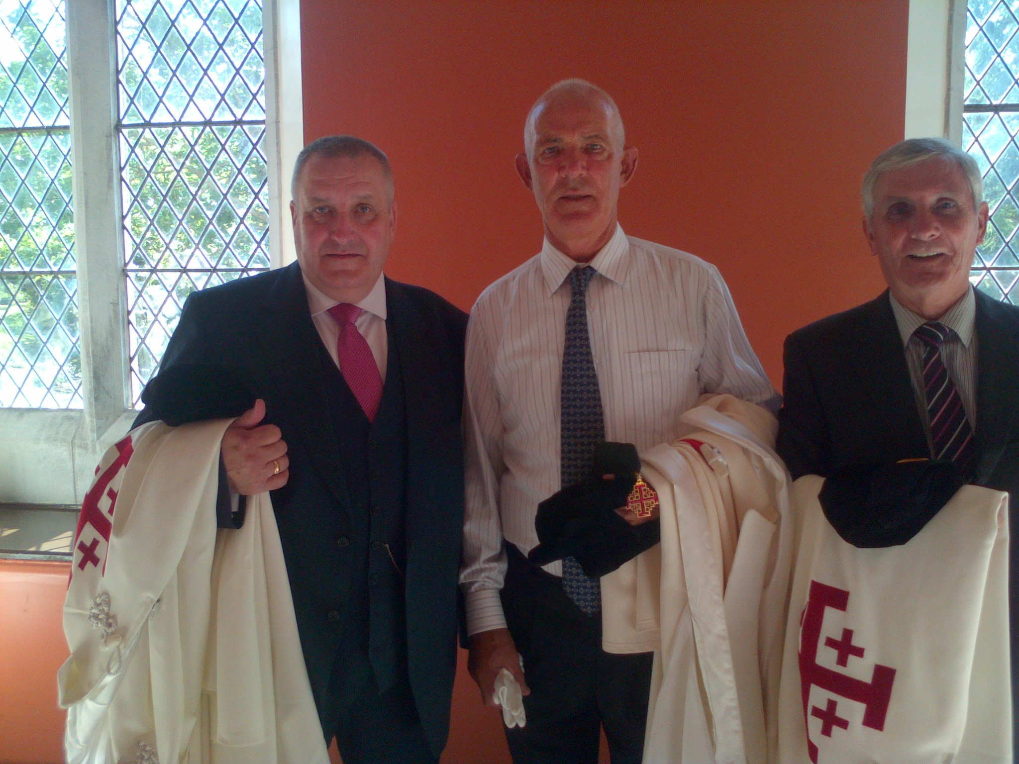 Master of Postulants Comdt F Hearms with P OSullivan T OKeeffe